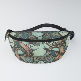 Sacred Geometry Mother - muted colors Fanny Pack