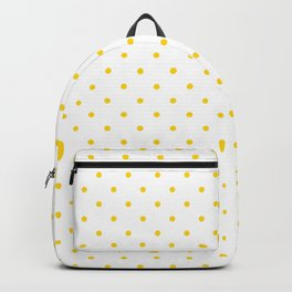 Small Yellow Polka dots Background Backpack