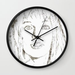 Leeloo Fifth Element sketch- Milla Jovovich Wall Clock