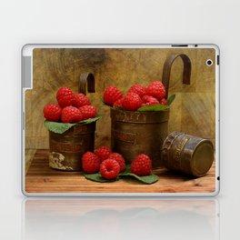 Raspberries in vintage measuring caps Laptop & iPad Skin