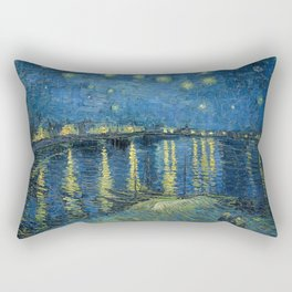Starry Night Over the Rhône by Vincent van Gogh Rectangular Pillow