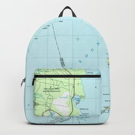 Vintage Southern Outer Banks Map (1957) Backpack