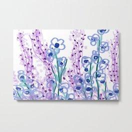 Waterlilies pink turquoise II Metal Print