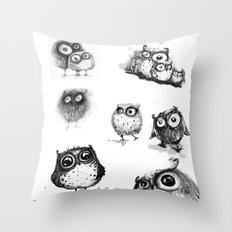 all owls  Throw Pillow