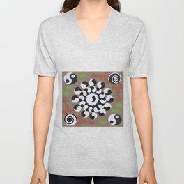 oo mandala pattern Unisex V-Neck