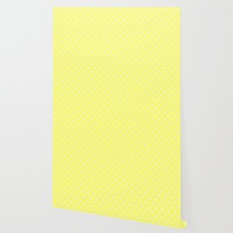 Butter Yellow Polka Dots Wallpaper