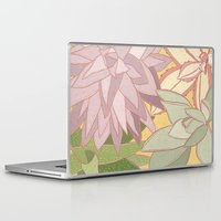 succulents Laptop & iPad Skins featuring Succulents by Julia Walters Illustration