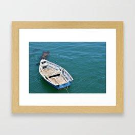 Boat in sea Framed Art Print