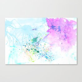 Stream of Consciousness watercolor Canvas Print
