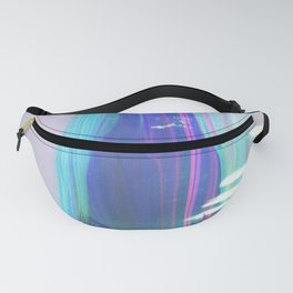 Abstract landscape sweep blue aqua purple Fanny Pack