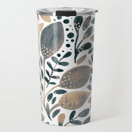 Watercolor branches and leaves - neutral Travel Mug