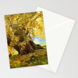 Sycamore in Autumn, Orange County Park Landscape by Edgar Alwin Payne Stationery Cards
