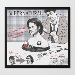 Supernatural Toy Co. Slumber Party Sam Winchester Styling Head Canvas Print