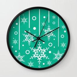 Let it Snow...(Emerald) Wall Clock