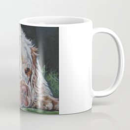 The Clumber Spaniel dog art portrait from an original painting by L.A.Shepard Coffee Mug