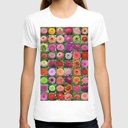 Zinnia Montage T-shirt