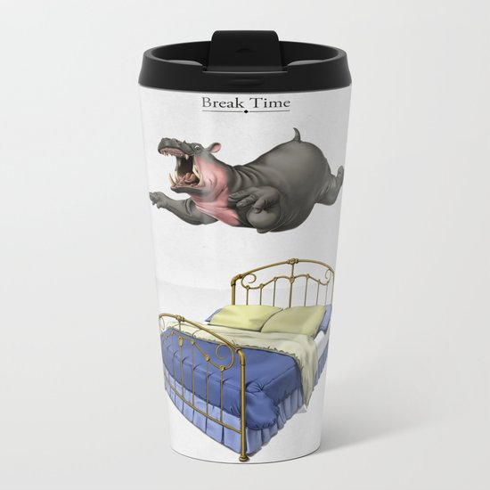 Break Time Metal Travel Mug
