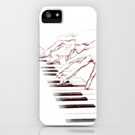 Piano hands iPhone Case