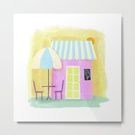 Ice Cream Shop Metal Print