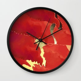 Sliced Iris with River Wall Clock
