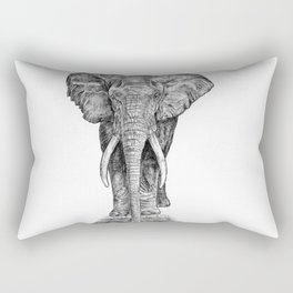 Elephant at the water hole. Rectangular Pillow