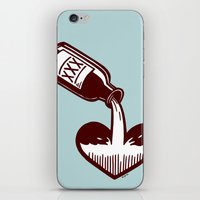 fitzgerald iPhone & iPod Skins featuring F. Scott Fitzgerald by Kip Noschese