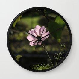 Pink and shadows Wall Clock