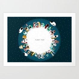 Planet Four Art Print