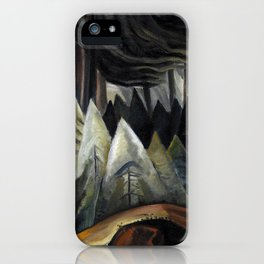 Emily Carr - Forest Light  - Canada, Canadian Oil Painting - Group of Seven iPhone Case