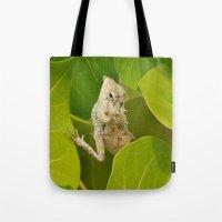 lizard Tote Bags featuring Lizard by Bonjourik