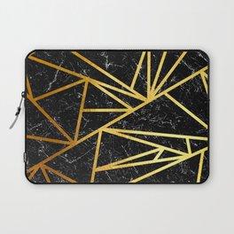 GEOMETRIC BLACK MARBLE Laptop Sleeve