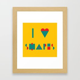 I heart Shapes Framed Art Print