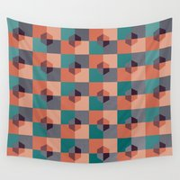 hexagon Wall Tapestries featuring Hexagon Pattern by Distinct Design