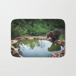 Bear in natural habitat Bath Mat