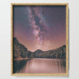 Milky Way Stars Night Sky Serving Tray