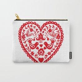 Folk Heart Carry-All Pouch