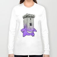 gengar Long Sleeve T-shirts featuring Castle Gengar by notalkingplz