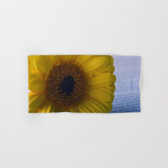 Yellow Gerbera Daisy Hand & Bath Towel