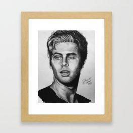 luke hemmo drawing Framed Art Print
