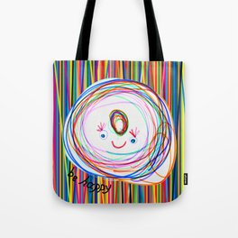 Be Happy | Smile | Stay Child | Kids Painting Tote Bag