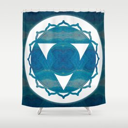 Dimensional Communications Abstract Chakra Art Shower Curtain