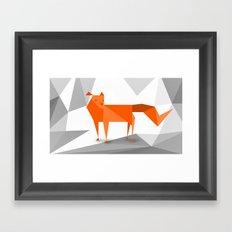 Fox cutout Framed Art Print