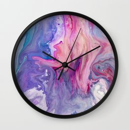 ultra violet marble fun Wall Clock