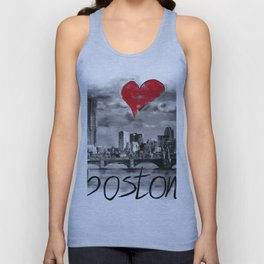 I love Boston Unisex Tank Top