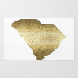 south carolina gold foil state map Rug