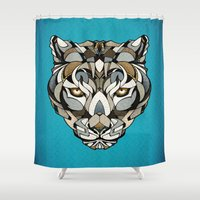 leopard Shower Curtains featuring Leopard by Andreas Preis