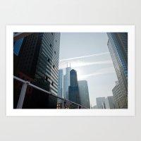 Riverside view of Chicago Art Print