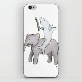 Shark with a Shotgun and the Elephant iPhone Skin