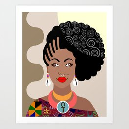 African Queen IV Art Print