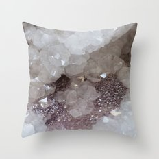 Silver & Quartz Crystal Throw Pillow